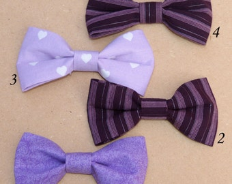 Kids Bow Ties, Boys bow ties, Baby bow ties -  Plum and Lilac Collection