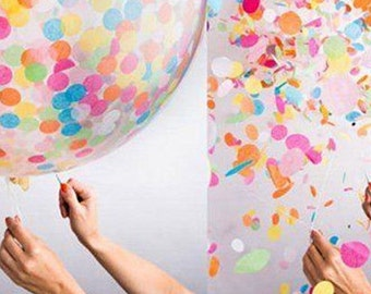 "12"" Confetti Filled Balloons 5pcs  AC10"