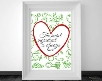 Kitchen wall art, Cooking gift, Gift for her, printable decor