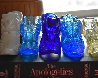 Decorative glass shoes
