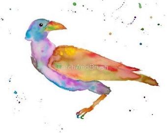 "Dream Raven / Crow / Blackbird (Original Watercolor Painting) 11"" x 14"""