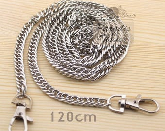 1 piece 120cm chain link for bag with carabiner clip