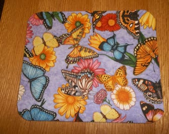 Mouse Pad, Butterfly's, Mouse Pads, Desk Accessory, Office Decor, Handmade, Gift, MousePad, Rectangle, Mouse Mat, Computer Mouse Pad, Mat