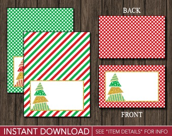 Christmas Tent Cards | Buffet Cards, Food Labels, Place Cards | Printable Digital File | INSTANT DOWNLOAD
