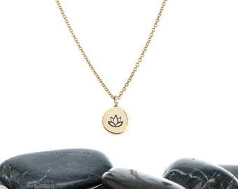 Lotus Necklace, Lotus Jewelry, Lotus, Lotus Flower, Lotus Flower Jewelry, Flower Necklace, Tiny Lotus Necklace, Tiny Lotus, Gold Lotus