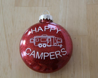Glitter Ornament - Happy Campers