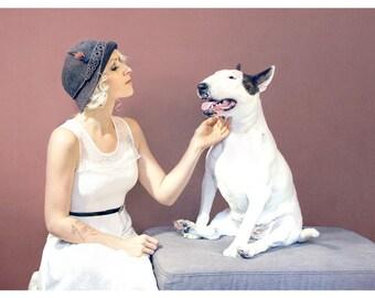 Vintage Love - Bull Terrier Photographic Art Print