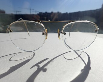 Gold Wire Rim Eyeglasses Sunglasses Frame Vintage 1940s
