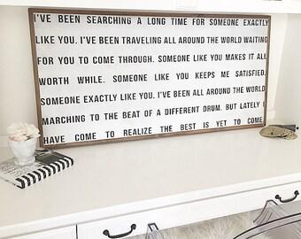 Someone Like You - wood sign