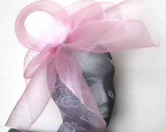 baby pink feather fascinator millinery burlesque headband wedding hat hair piece