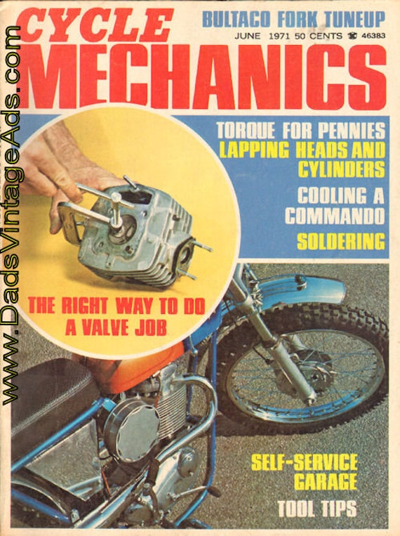 1971 June Volume 2 Number 6 Cycle Mechanics Motorcycle Magazine Back-Issue #7106cm