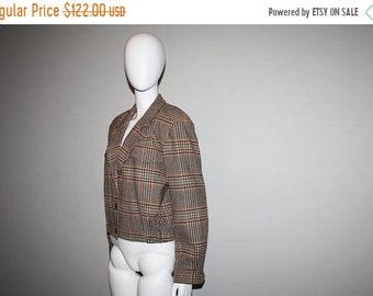 45% Off FLASH SALE - 1980s Pendleton Brown Plaid Hunting Bomber Plaid Jacket - Vintage Heritage American  Pendleton Jacket - Sportscoats - S