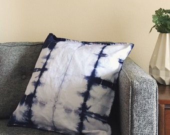Hand-dyed Itajime Shibori Pillow Cover (cover only)