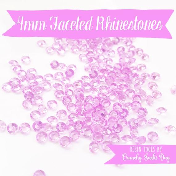 200 PCS- 4mm Lilac Purple Clear Acrylic Diamond Rhinestones, Rhinestone, Acrylic Rhinestones, Loose Rhinestones, Diamond Confetti, Confetti
