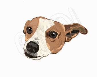 Digital Print | Cooper the Rescue Dog | Instant Download