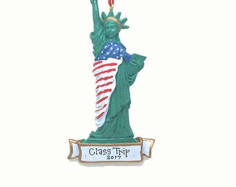 Statue of Liberty Christms Ornament / New York Ornament / Big Apple / Manhattan Ornament / Custom Names or Message