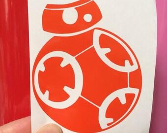 BB-8 Star Wars inspired vinyl sticker decal car window sticker
