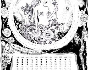 Lunar Calendar 2018 ~ A3 sized print