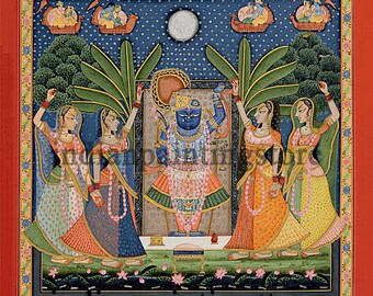 Sharad Poornima Pichvai (PICHWAI) Miniature Paintings on Basli
