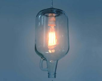 Pendant light, Wine Jug. Edison.