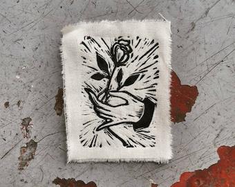 Linocut - art - patches - patch - romantic