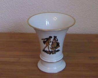 Fürstenberg Porcelain West Germany trumpet vase ceramic
