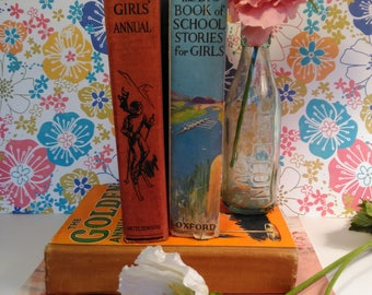 Vintage Collection of Girls' 1930s Books - The Big Book of School Stories, The Girls' Annual and The Golden Annual for Girls 1937