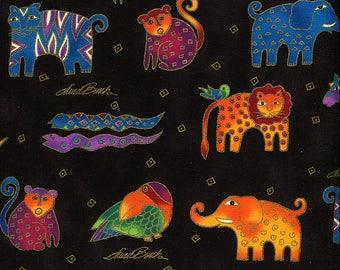 "Mythical Jungle Animals - Laurel Burch - Clothworks - 1 Yard Plus (45"")"