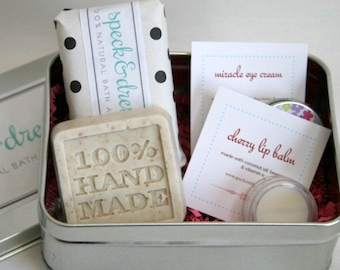 GIFT SET Bath and Body- Lotion Bar - Eye Cream - Lip Balm- Oatmeal Soap - Mothers Day - Bridal Shower Favor - Wedding Favor - New Mom Gift
