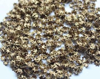 100Metal base Flower Sequins/Antique Golden Color /KBMS548