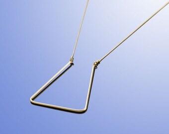 Minimalist Geometric Necklace, Dainty Gold Necklace, Unique Everyday Necklace, Modern Fashion Necklace, Elegant Necklace, Classic Necklace