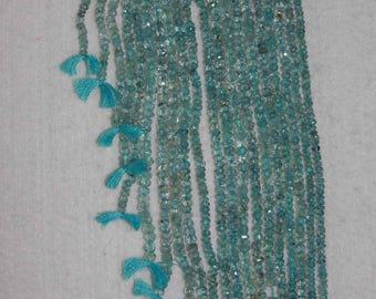 Aquamarine, Aquamarine Rondelle, Faceted Rondelle, Aquamarine Bead, Semi Precious, Gemstone Bead, Sparkle, Full Strand, 4mm, AdrianasBeads