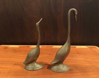 Vintage Rosenthal Netter Brass Swans pair