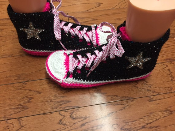 slippers shoes List inspired Converse 399 bling converse high slippers Womens pink 7 9 sneaker converse tennis crocheted black converse top CFCw1Spq