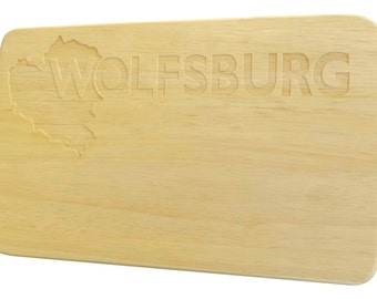 Breakfast Board Wolfsburg engraving Brotbrett Wood-Breakfast Board-engraving