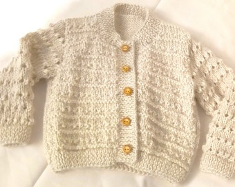 Baby alpaca coat hand knitted