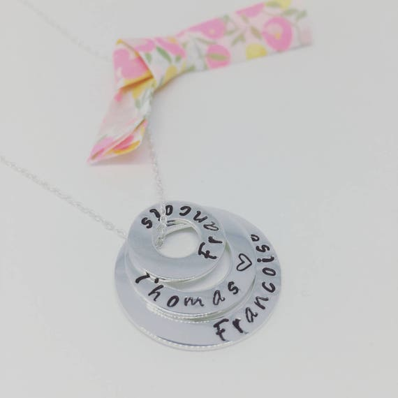 """★ Necklace / names gift ★ ★ necklace 925 sterling silver chain 925 sterling silver chain + 3 small charms 925 sterling silver personalized """"Infinite"""""""