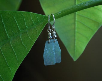 Recycled Shed flashing earrings