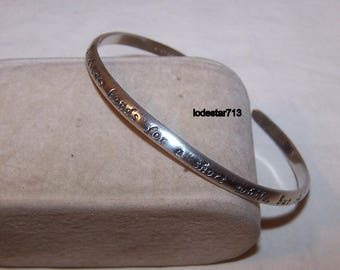 Sterling Cuff Bracelet A Mother Holds Her Childrens Hands For A Short While But Their Hearts Forever