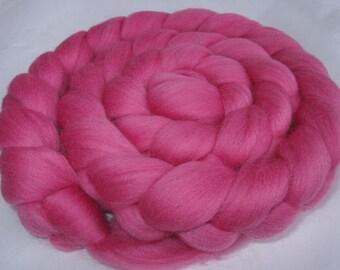 Wool roving, merino wool roving, roving wool, merino spinning fiber, merino felting wool, dolls hair,dread wool,20 mic,BABY PINK,3.5oz, 100g