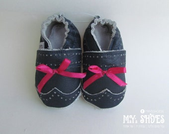 Leather Baby Shoes/ Soft sole shoes/Sweety/First walking shoes