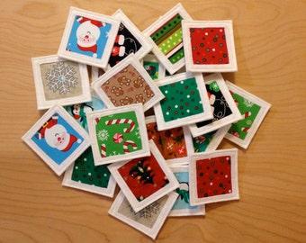 Fabric Matching/Memory Game with Drawstring Storage Bag - Christmas Theme