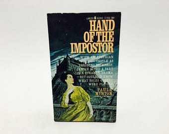 Vintage Gothic Romance Book Hand of the Imposter by Paula Minton 1965 Paperback