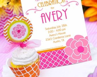 Garden Party Invitation   Garden Flower Birthday Invitation   Teen Birthday Invitation   Adult Birthday Invitation   Amanda's Parties To Go