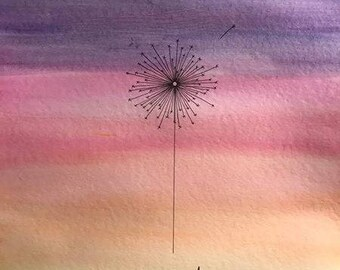 Wish watercolor painting