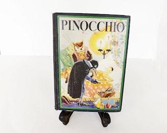 1932 Pinocchio Antique Book, Pinocchio Book, Hard Back Book, Literary Classic, Childrens Book, Collectible Book, C Collodi, Illustrated Book