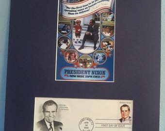 Honoring President Richard Nixon and the First day Cover of his own stamp