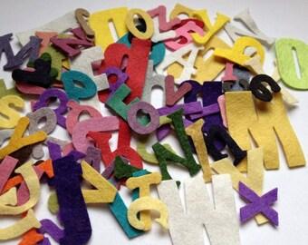 Wool Felt Alphabet Letters Die Cut 78 ct. - Random Size & Colors 2605 Stock image* Felt Learning - Felt Words - Die Cut Letters - Felt Board