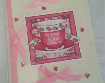 This is a Mothers Day card that is handmade