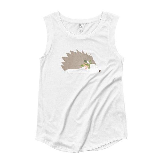 Women's Hedgehog Cap Sleeve T-Shirt
